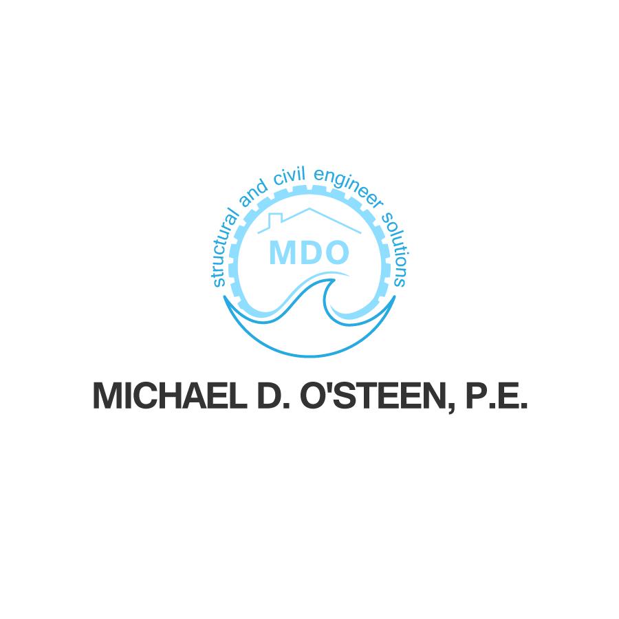 Logo Design by zesthar - Entry No. 124 in the Logo Design Contest Michael D. O'Steen, P.E.  Logo Design.