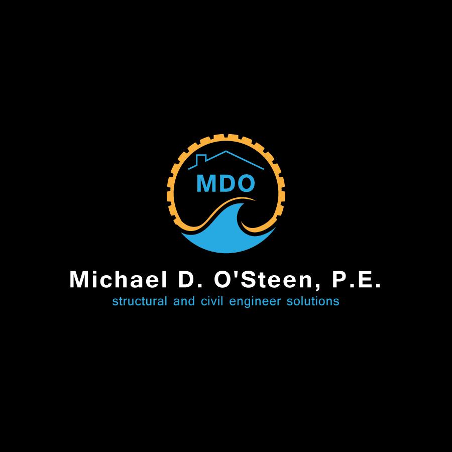 Logo Design by zesthar - Entry No. 125 in the Logo Design Contest Michael D. O'Steen, P.E.  Logo Design.