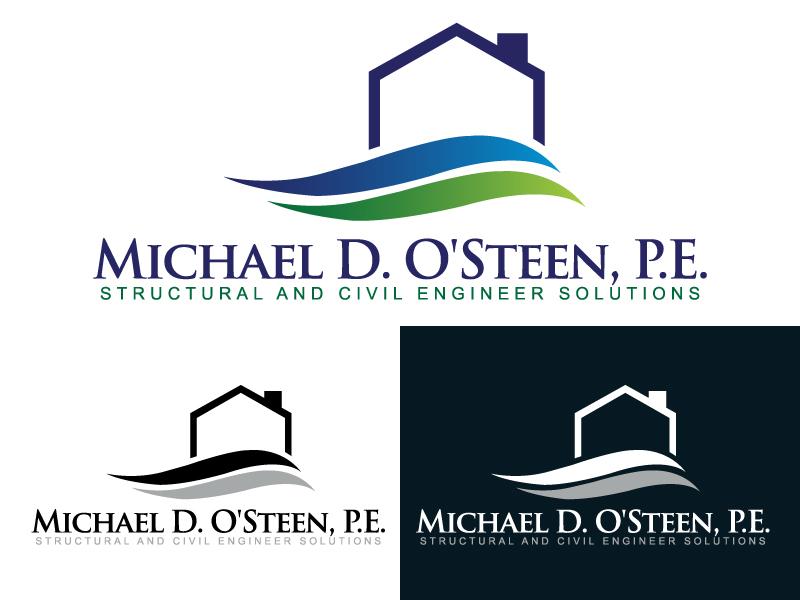 Logo Design by caturro - Entry No. 130 in the Logo Design Contest Michael D. O'Steen, P.E.  Logo Design.