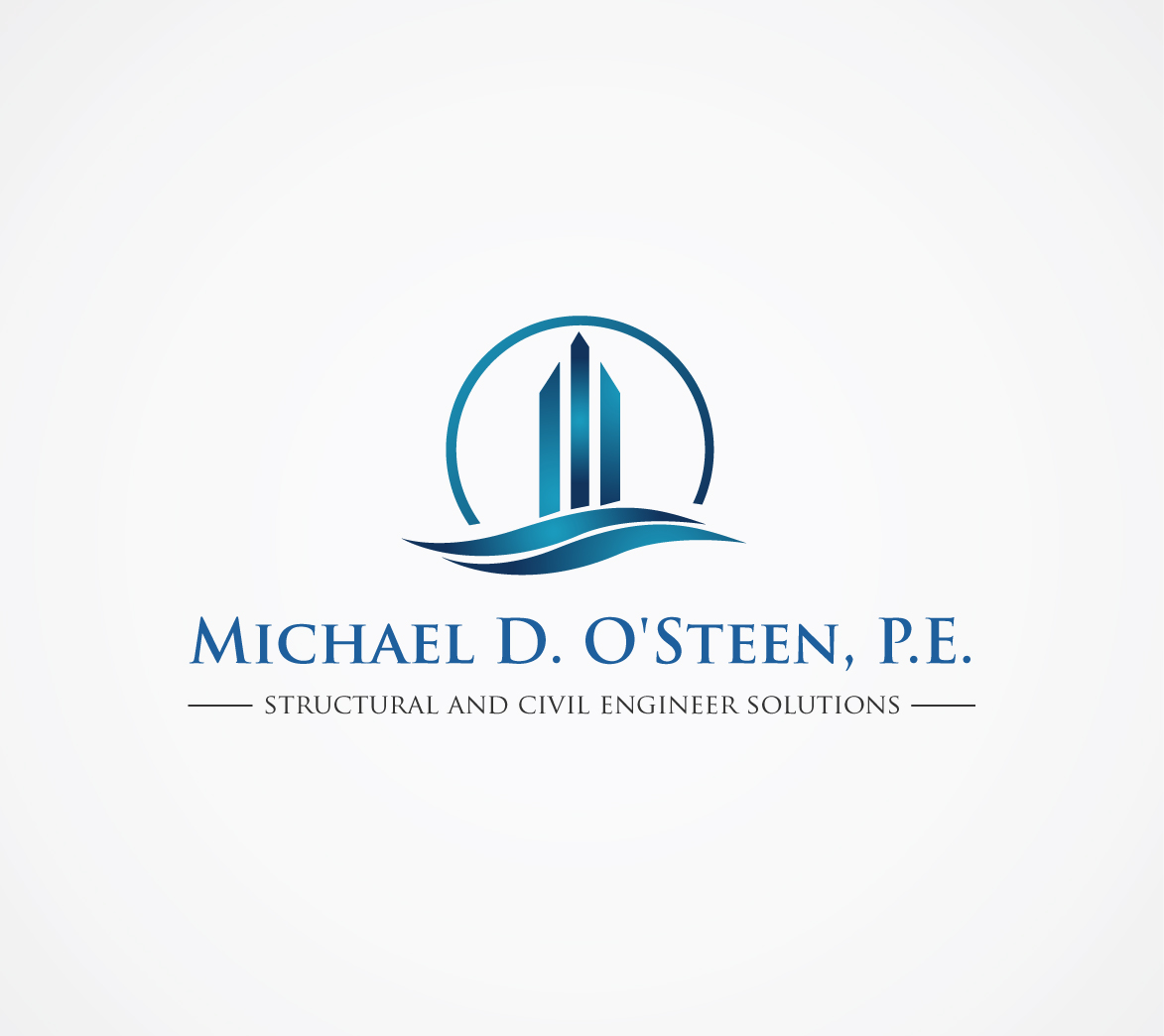 Logo Design by nila - Entry No. 134 in the Logo Design Contest Michael D. O'Steen, P.E.  Logo Design.
