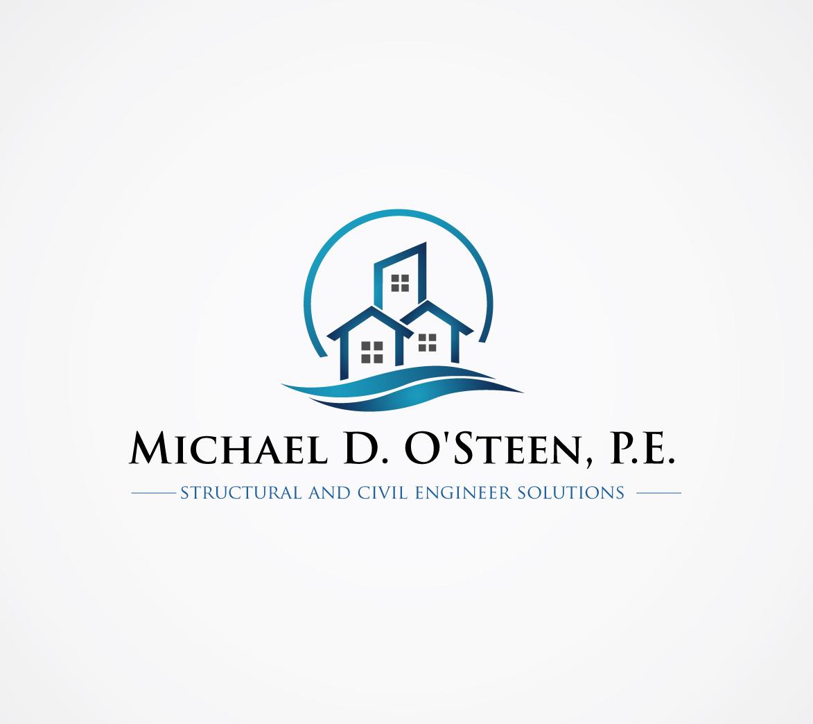 Logo Design by nila - Entry No. 135 in the Logo Design Contest Michael D. O'Steen, P.E.  Logo Design.