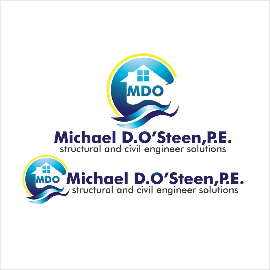 Logo Design by stormbighit - Entry No. 136 in the Logo Design Contest Michael D. O'Steen, P.E.  Logo Design.