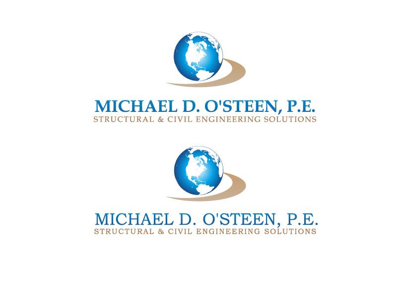 Logo Design by ddamian_dd - Entry No. 142 in the Logo Design Contest Michael D. O'Steen, P.E.  Logo Design.