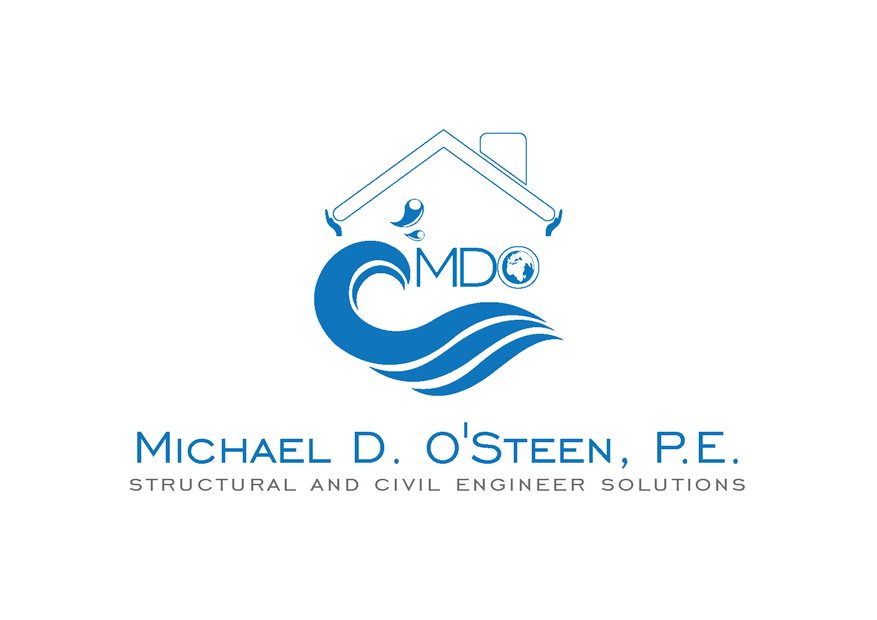 Logo Design by Riyaz - Entry No. 143 in the Logo Design Contest Michael D. O'Steen, P.E.  Logo Design.