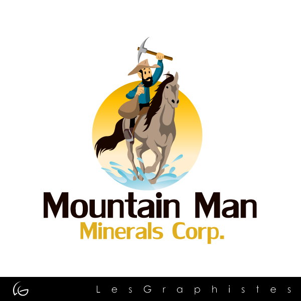 Logo Design by Les-Graphistes - Entry No. 1 in the Logo Design Contest Mountian Man Minerals Corp. Logo Design.