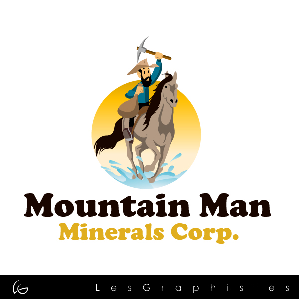 Logo Design by Les-Graphistes - Entry No. 2 in the Logo Design Contest Mountian Man Minerals Corp. Logo Design.