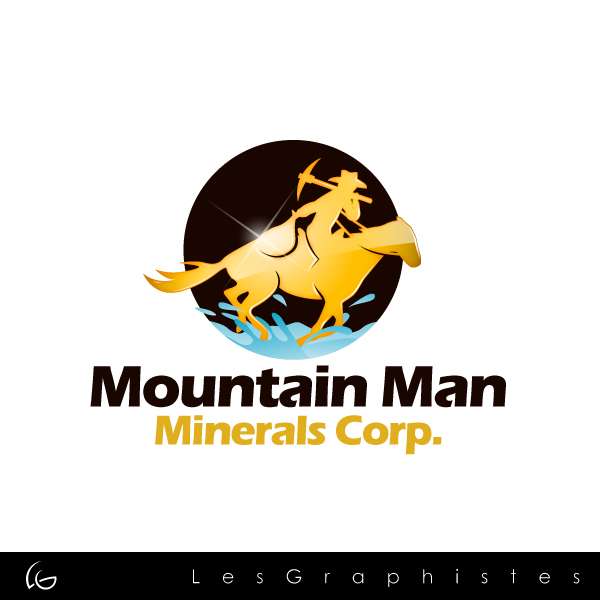 Logo Design by Les-Graphistes - Entry No. 4 in the Logo Design Contest Mountian Man Minerals Corp. Logo Design.