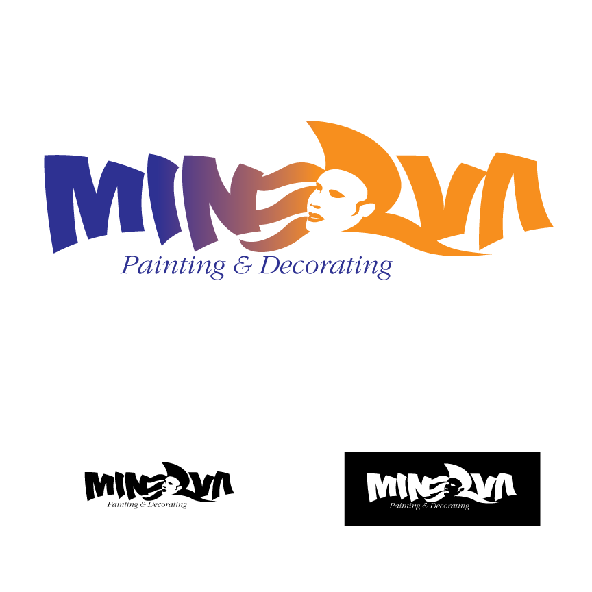 Logo Design by Severiano Fernandes - Entry No. 52 in the Logo Design Contest New Logo Design for Minerva Painting & Decorating Ltd..