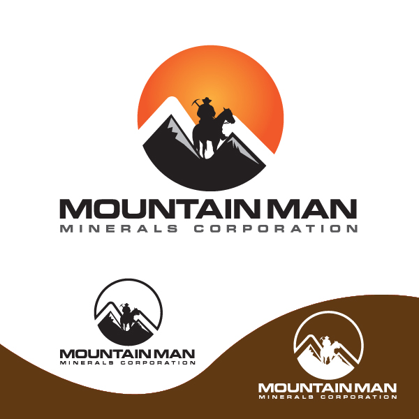 Logo Design by storm - Entry No. 34 in the Logo Design Contest Mountian Man Minerals Corp. Logo Design.