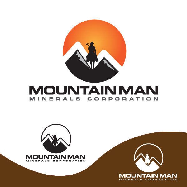 Logo Design by storm - Entry No. 35 in the Logo Design Contest Mountian Man Minerals Corp. Logo Design.