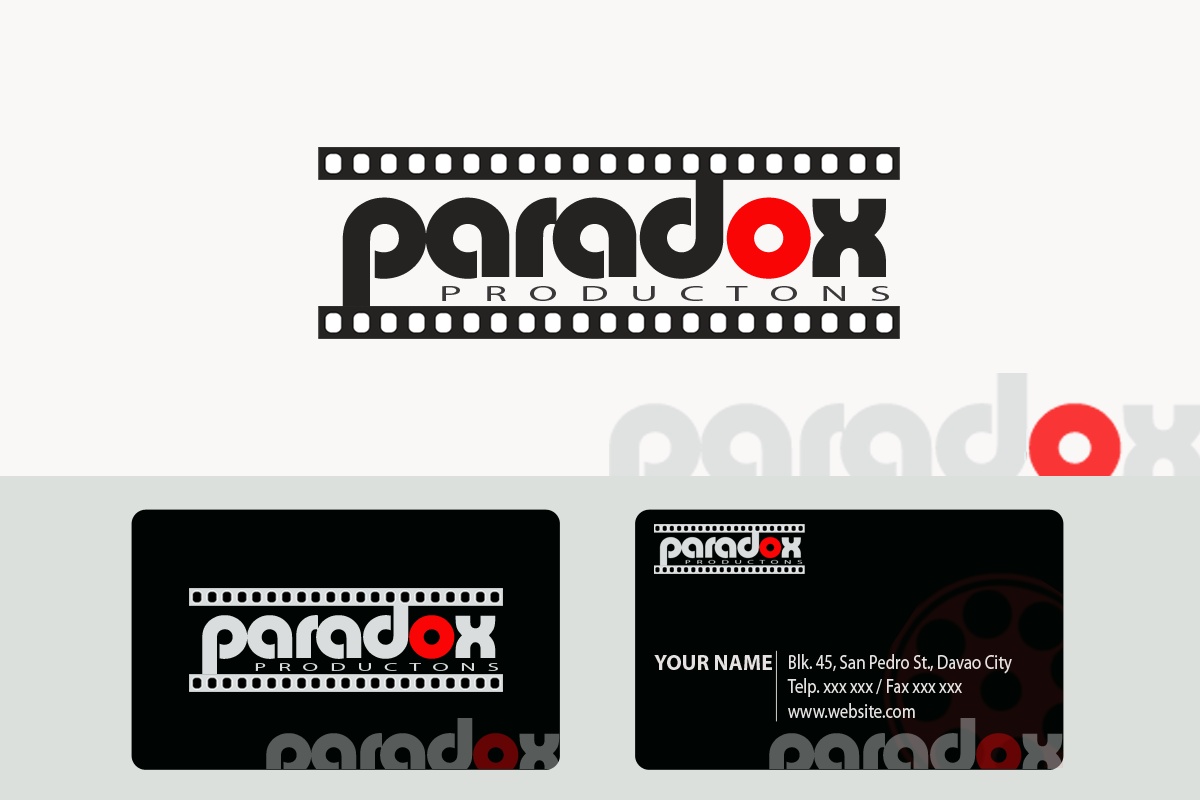 Logo Design by Golden_Hand - Entry No. 100 in the Logo Design Contest Unique Logo Design Wanted for PARADOX Productions.