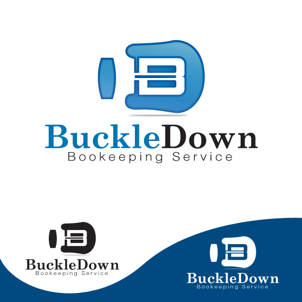 Logo Design by storm - Entry No. 1 in the Logo Design Contest Unique Logo Design Wanted for Buckle Down Bookkeeping Service.