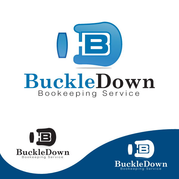 Logo Design by storm - Entry No. 2 in the Logo Design Contest Unique Logo Design Wanted for Buckle Down Bookkeeping Service.