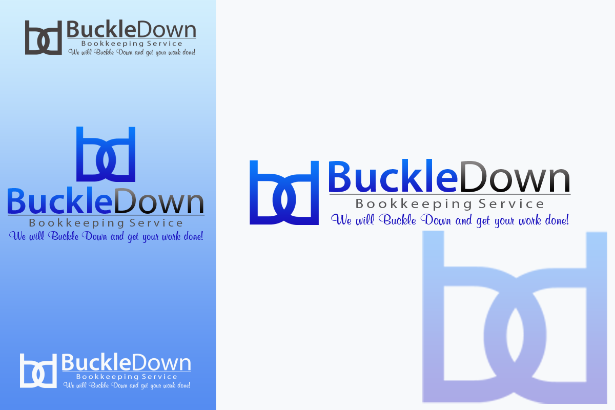 Logo Design by golden-hand - Entry No. 7 in the Logo Design Contest Unique Logo Design Wanted for Buckle Down Bookkeeping Service.