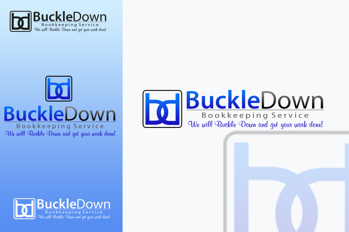 Logo Design by Golden_Hand - Entry No. 8 in the Logo Design Contest Unique Logo Design Wanted for Buckle Down Bookkeeping Service.