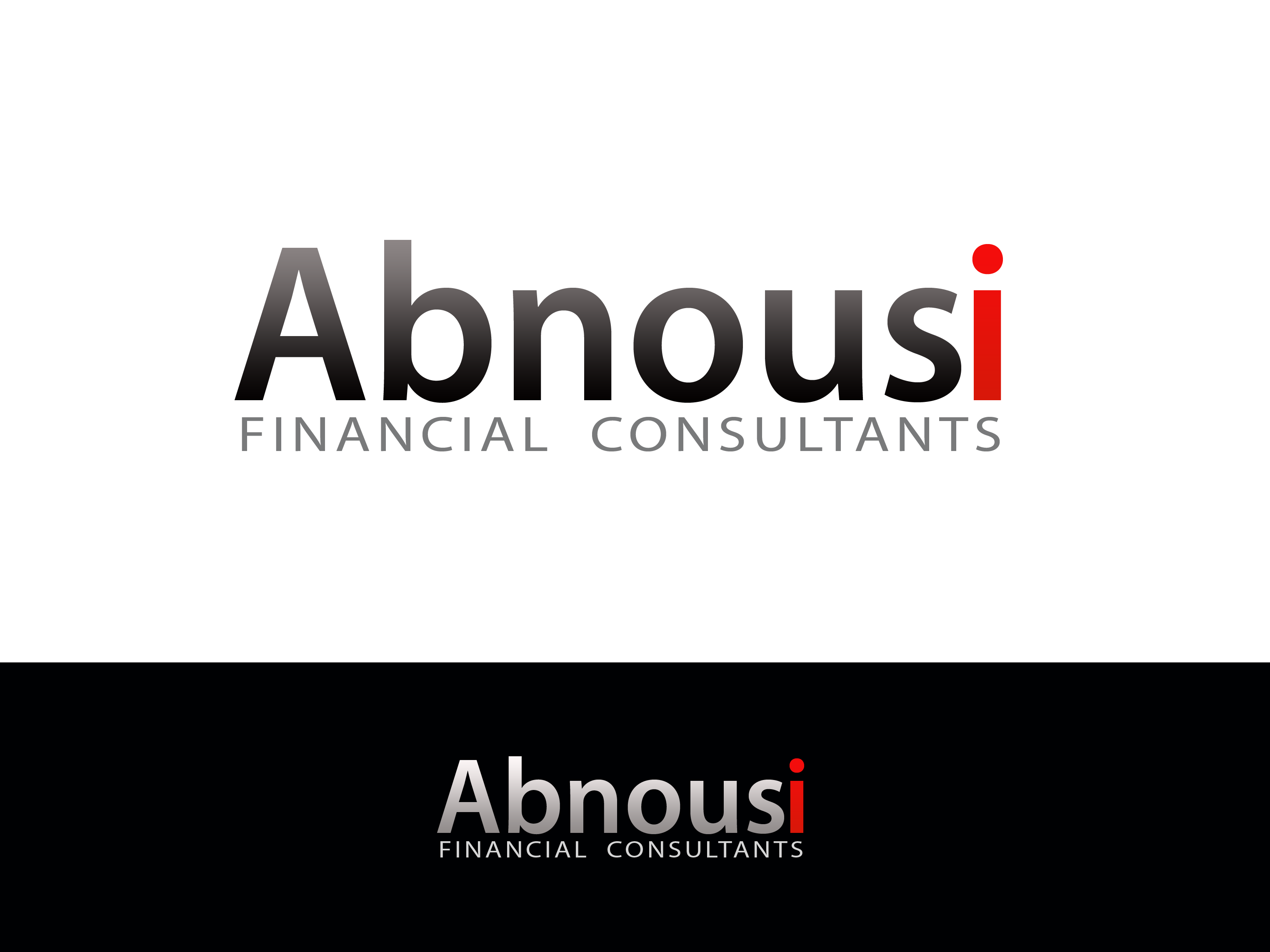 Logo Design by Golden_Hand - Entry No. 2 in the Logo Design Contest Fun Logo Design for Abnousi Financial Consultants.