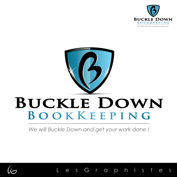 Logo Design by Les-Graphistes - Entry No. 11 in the Logo Design Contest Unique Logo Design Wanted for Buckle Down Bookkeeping Service.