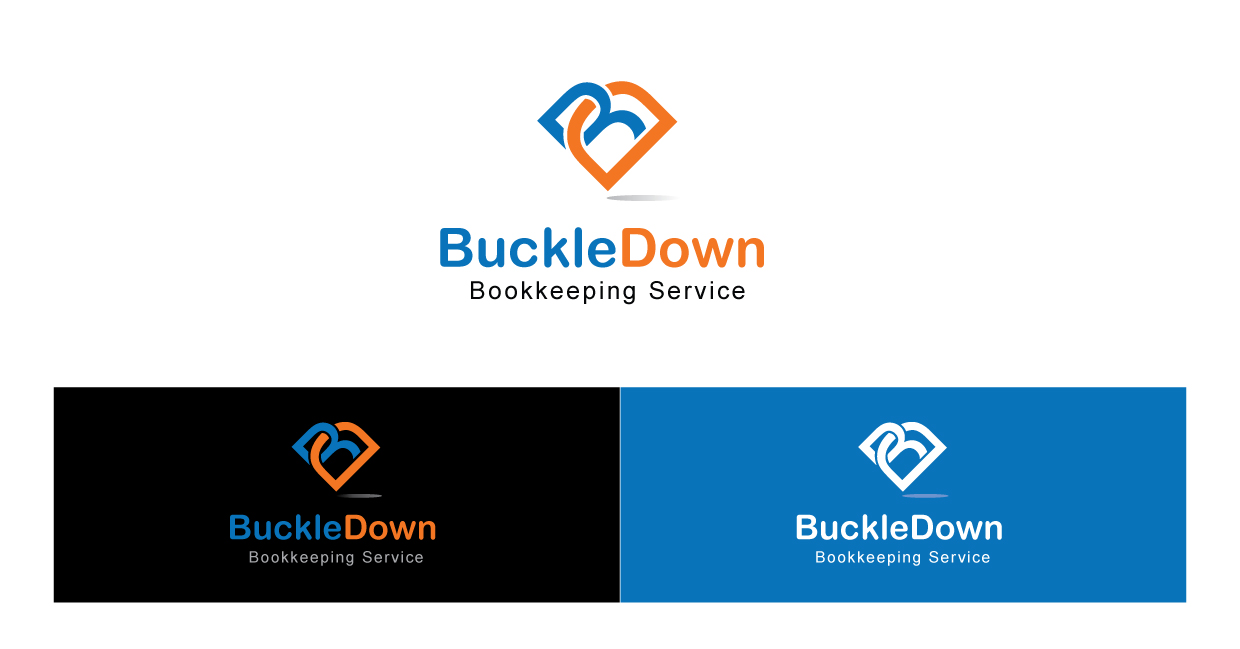 Logo Design by peps - Entry No. 12 in the Logo Design Contest Unique Logo Design Wanted for Buckle Down Bookkeeping Service.