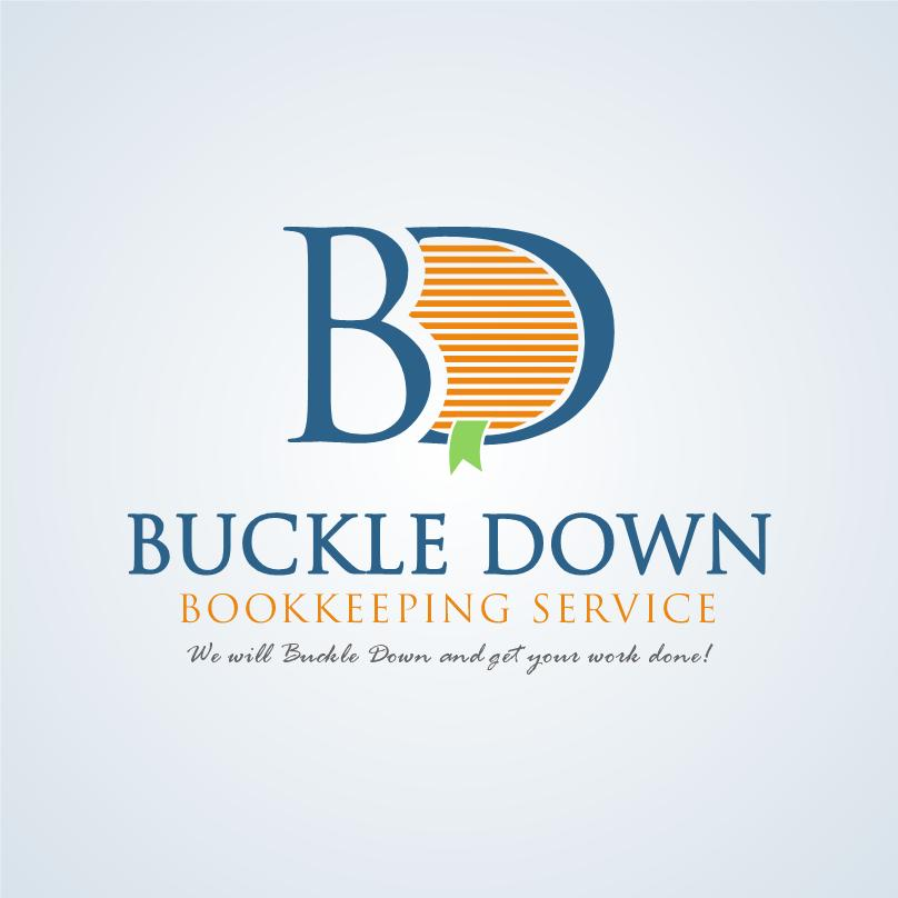 Logo Design by luvrenz - Entry No. 13 in the Logo Design Contest Unique Logo Design Wanted for Buckle Down Bookkeeping Service.