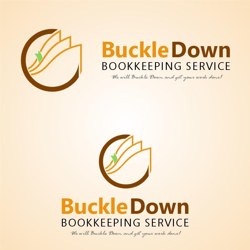 Logo Design by luvrenz - Entry No. 19 in the Logo Design Contest Unique Logo Design Wanted for Buckle Down Bookkeeping Service.