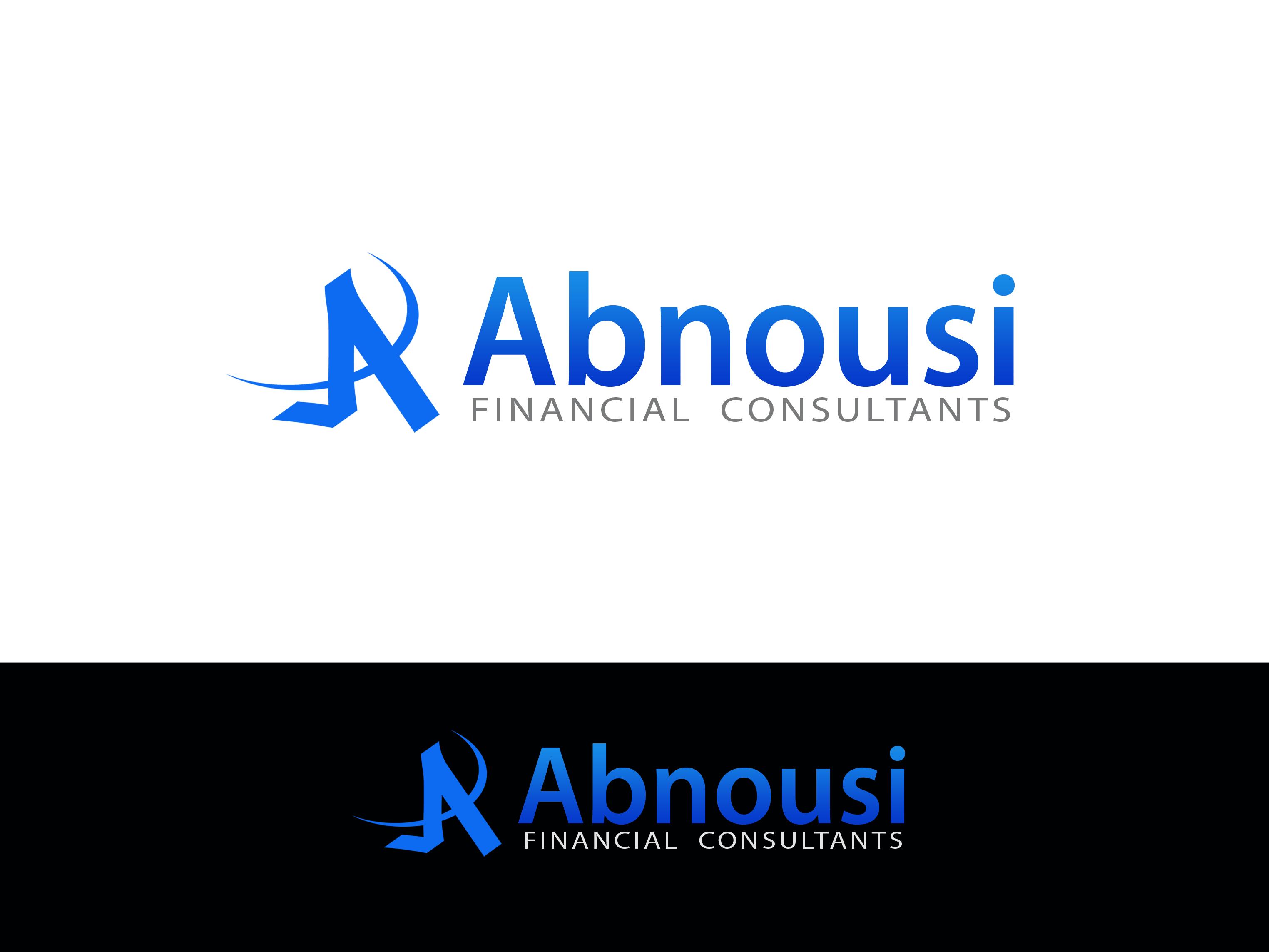 Logo Design by Golden_Hand - Entry No. 6 in the Logo Design Contest Fun Logo Design for Abnousi Financial Consultants.