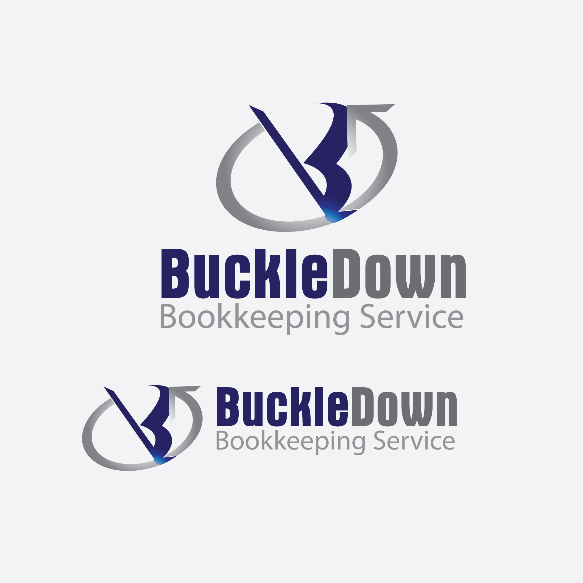 Logo Design by stormbighit - Entry No. 34 in the Logo Design Contest Unique Logo Design Wanted for Buckle Down Bookkeeping Service.
