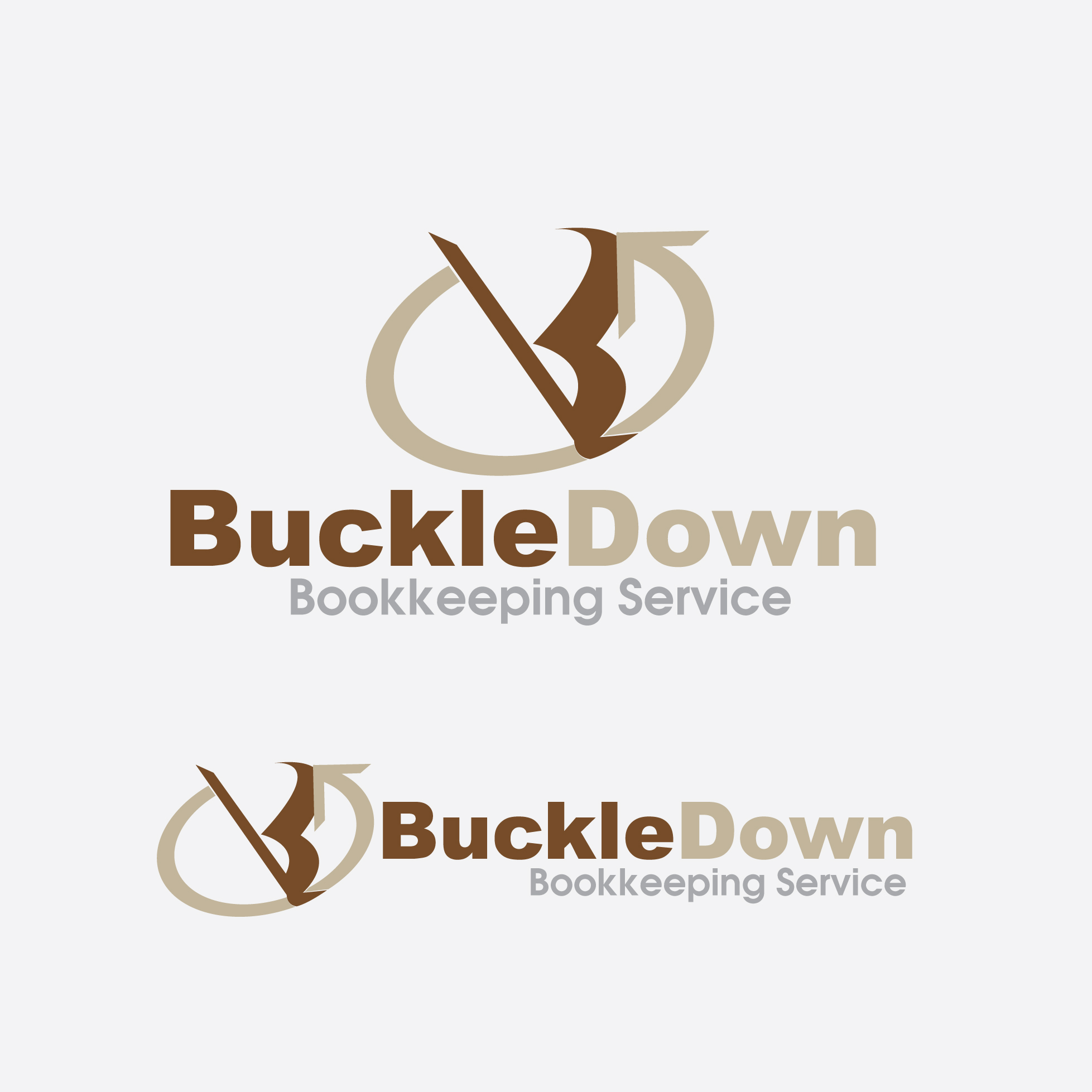 Logo Design by stormbighit - Entry No. 35 in the Logo Design Contest Unique Logo Design Wanted for Buckle Down Bookkeeping Service.