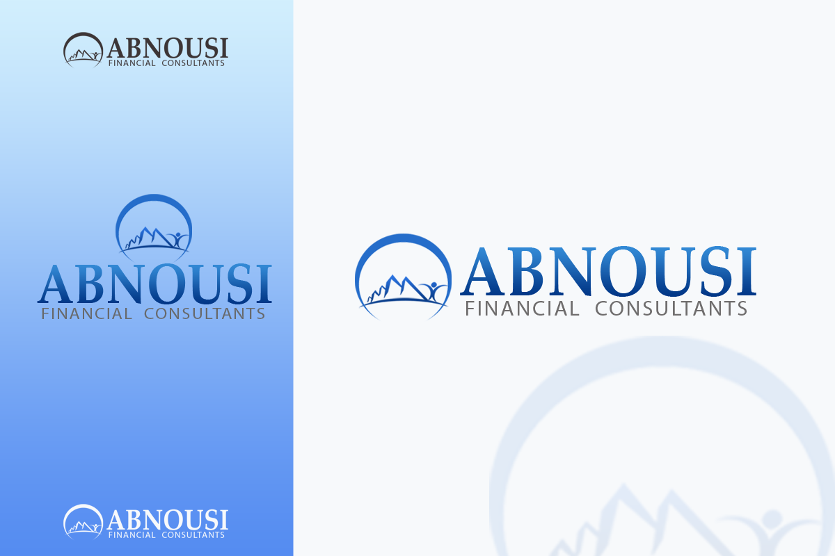 Logo Design by golden-hand - Entry No. 46 in the Logo Design Contest Fun Logo Design for Abnousi Financial Consultants.