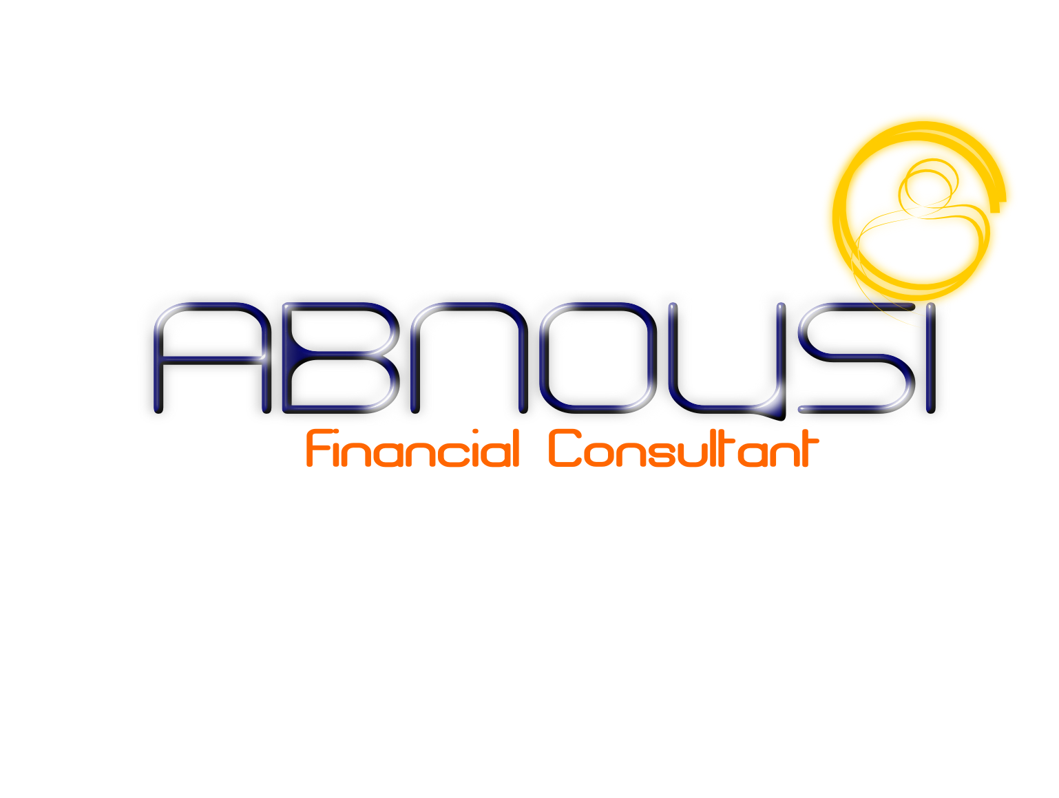 Logo Design by Joseph calunsag Cagaanan - Entry No. 51 in the Logo Design Contest Fun Logo Design for Abnousi Financial Consultants.