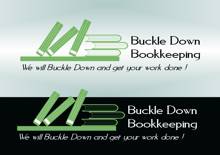 Logo Design by Heri Susanto - Entry No. 37 in the Logo Design Contest Unique Logo Design Wanted for Buckle Down Bookkeeping Service.