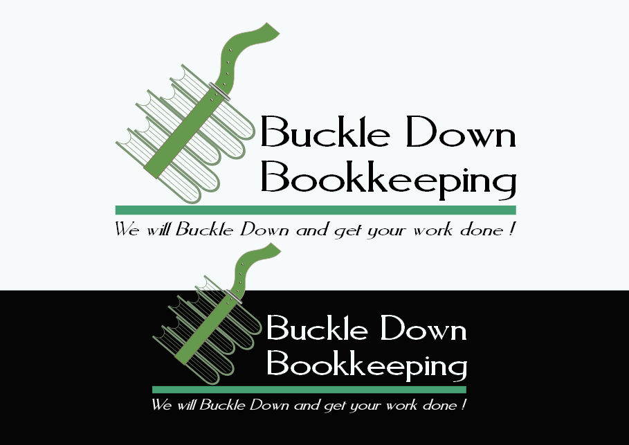 Logo Design by Heri Susanto - Entry No. 38 in the Logo Design Contest Unique Logo Design Wanted for Buckle Down Bookkeeping Service.