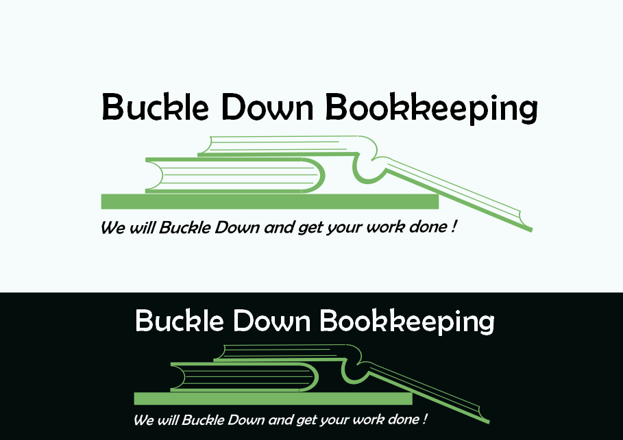 Logo Design by Heri Susanto - Entry No. 39 in the Logo Design Contest Unique Logo Design Wanted for Buckle Down Bookkeeping Service.