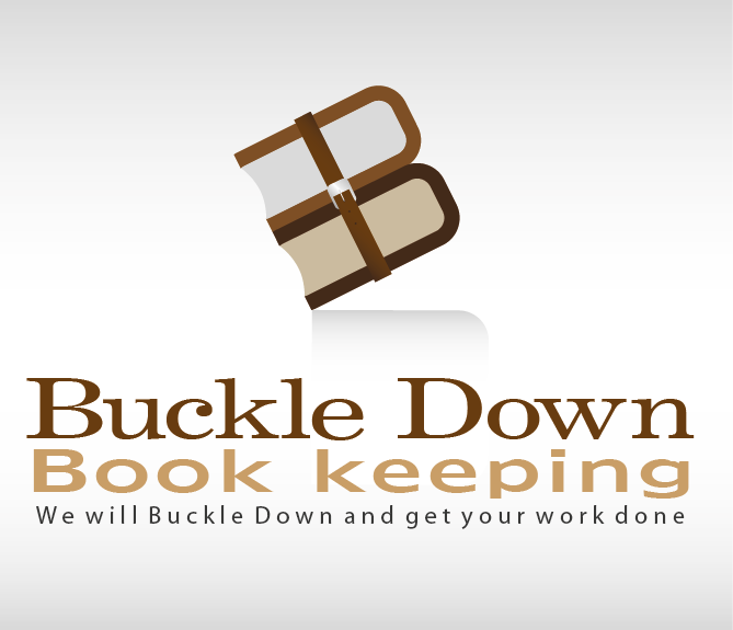 Logo Design by fathan - Entry No. 40 in the Logo Design Contest Unique Logo Design Wanted for Buckle Down Bookkeeping Service.