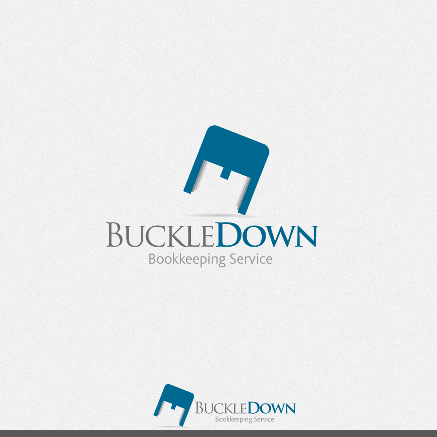 Logo Design by rockpinoy - Entry No. 43 in the Logo Design Contest Unique Logo Design Wanted for Buckle Down Bookkeeping Service.