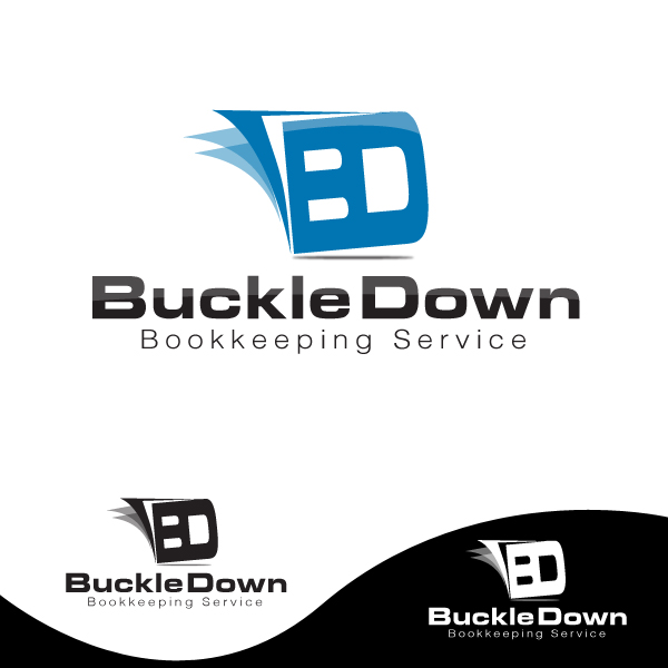 Logo Design by storm - Entry No. 45 in the Logo Design Contest Unique Logo Design Wanted for Buckle Down Bookkeeping Service.
