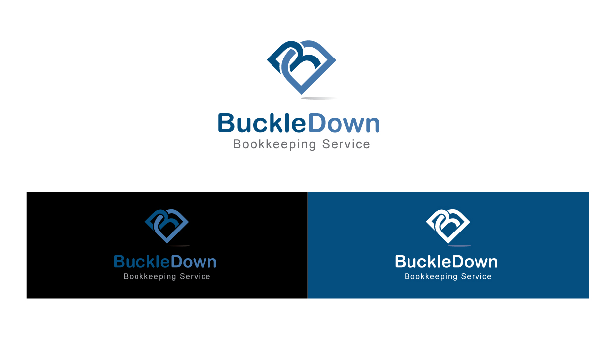 Logo Design by peps - Entry No. 47 in the Logo Design Contest Unique Logo Design Wanted for Buckle Down Bookkeeping Service.