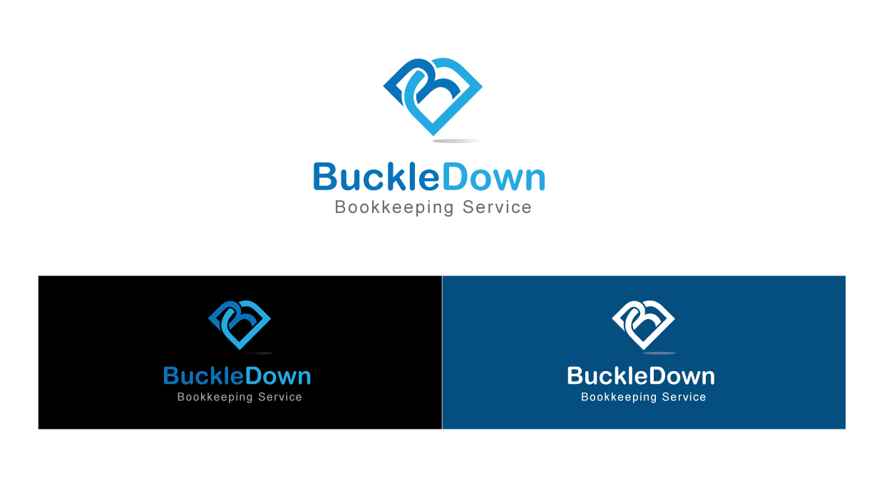 Logo Design by peps - Entry No. 48 in the Logo Design Contest Unique Logo Design Wanted for Buckle Down Bookkeeping Service.
