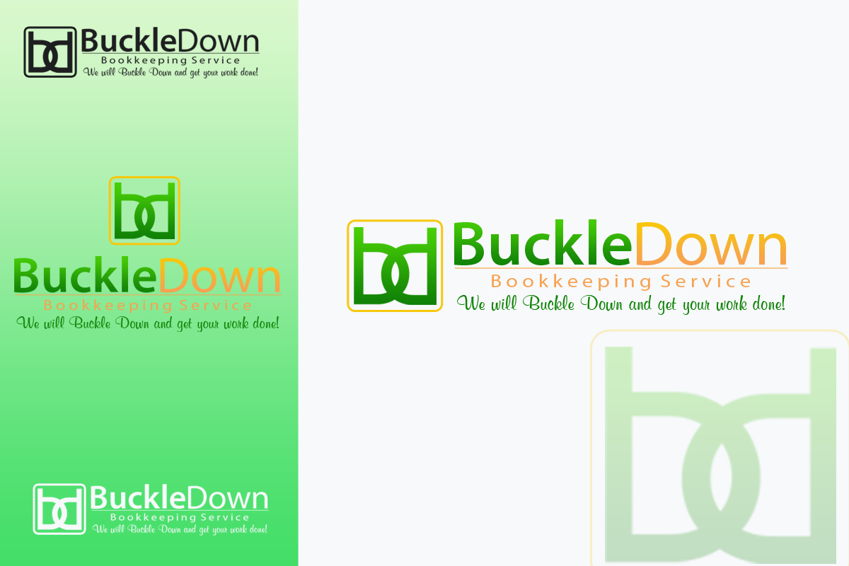 Logo Design by Golden_Hand - Entry No. 51 in the Logo Design Contest Unique Logo Design Wanted for Buckle Down Bookkeeping Service.