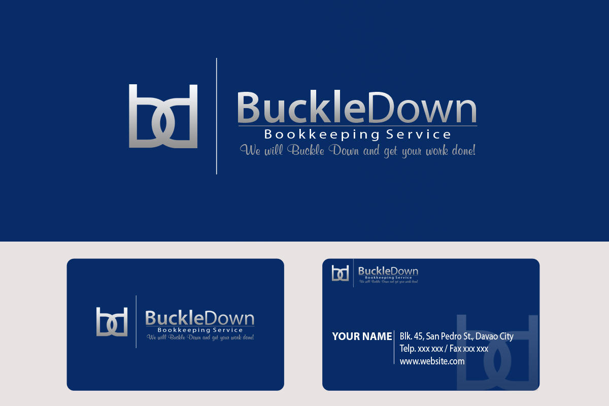 Logo Design by Golden_Hand - Entry No. 52 in the Logo Design Contest Unique Logo Design Wanted for Buckle Down Bookkeeping Service.