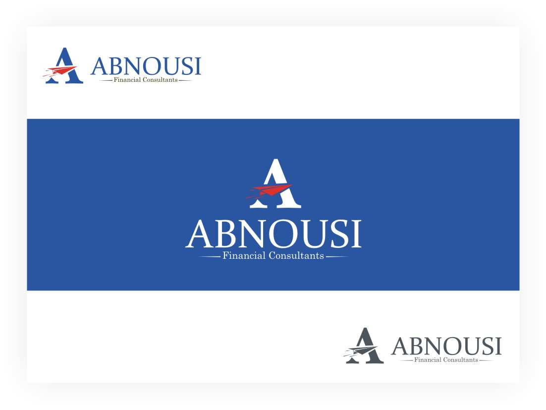 Logo Design by Muhammad Nasrul chasib - Entry No. 112 in the Logo Design Contest Fun Logo Design for Abnousi Financial Consultants.