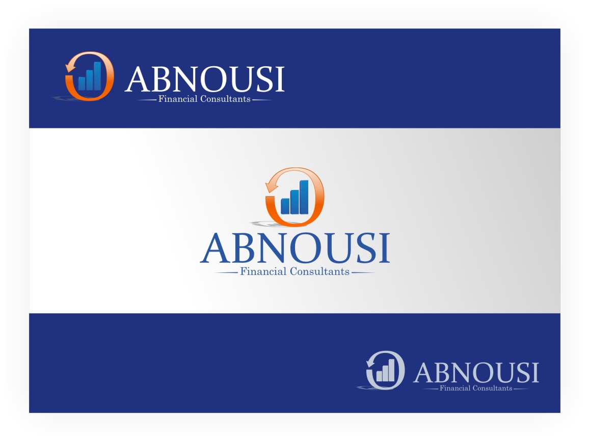 Logo Design by Muhammad Nasrul chasib - Entry No. 117 in the Logo Design Contest Fun Logo Design for Abnousi Financial Consultants.