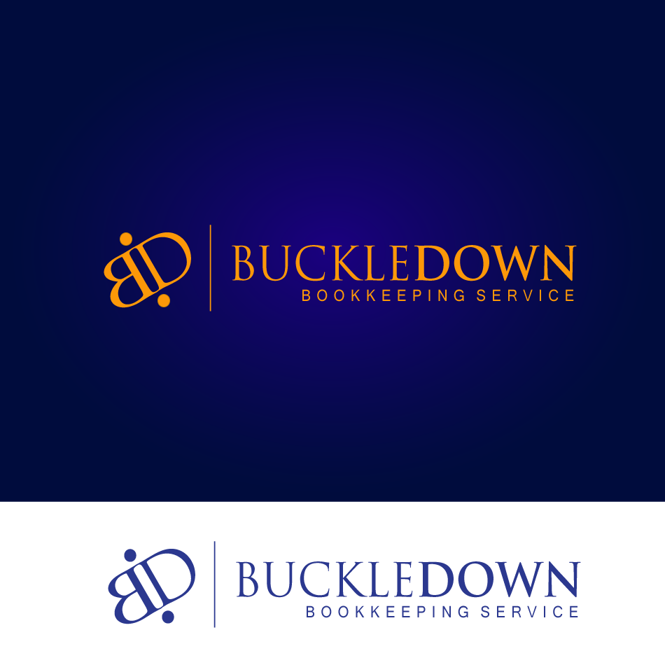 Logo Design by moonflower - Entry No. 59 in the Logo Design Contest Unique Logo Design Wanted for Buckle Down Bookkeeping Service.