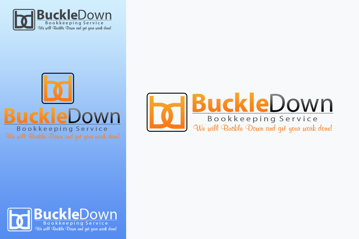 Logo Design by Golden_Hand - Entry No. 60 in the Logo Design Contest Unique Logo Design Wanted for Buckle Down Bookkeeping Service.