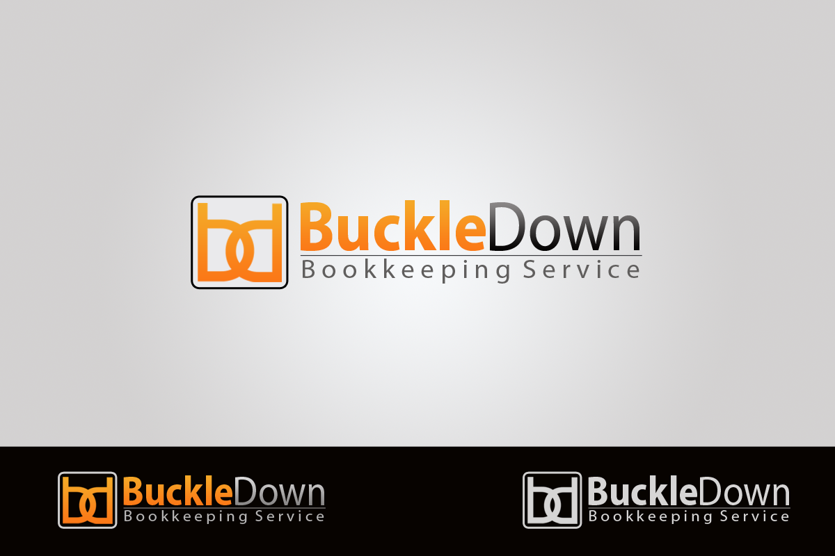 Logo Design by golden-hand - Entry No. 61 in the Logo Design Contest Unique Logo Design Wanted for Buckle Down Bookkeeping Service.