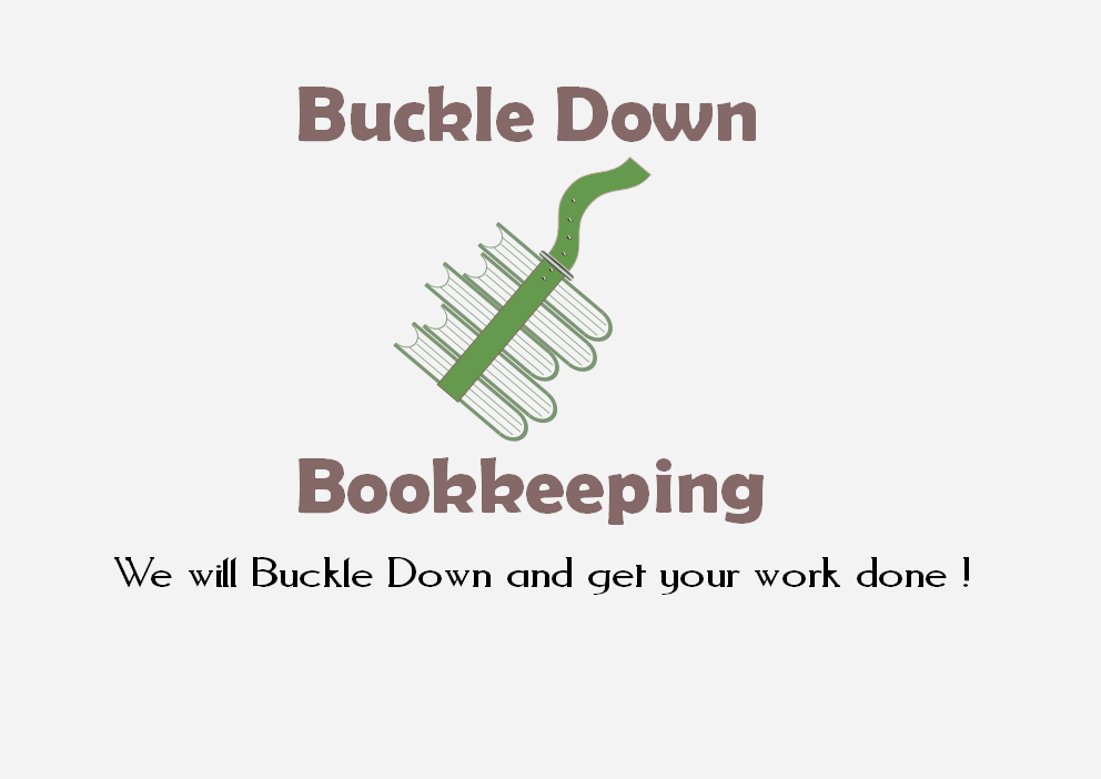Logo Design by Heri Susanto - Entry No. 63 in the Logo Design Contest Unique Logo Design Wanted for Buckle Down Bookkeeping Service.