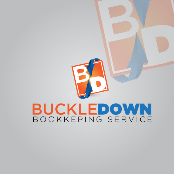 Logo Design by lumerb - Entry No. 65 in the Logo Design Contest Unique Logo Design Wanted for Buckle Down Bookkeeping Service.