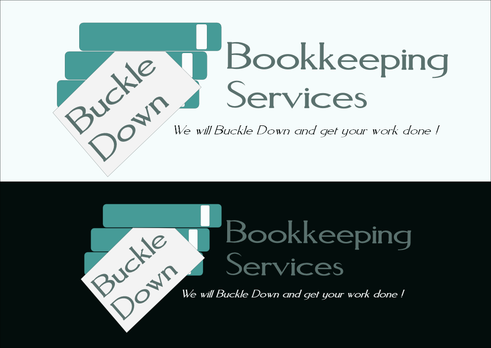 Logo Design by Heri Susanto - Entry No. 75 in the Logo Design Contest Unique Logo Design Wanted for Buckle Down Bookkeeping Service.