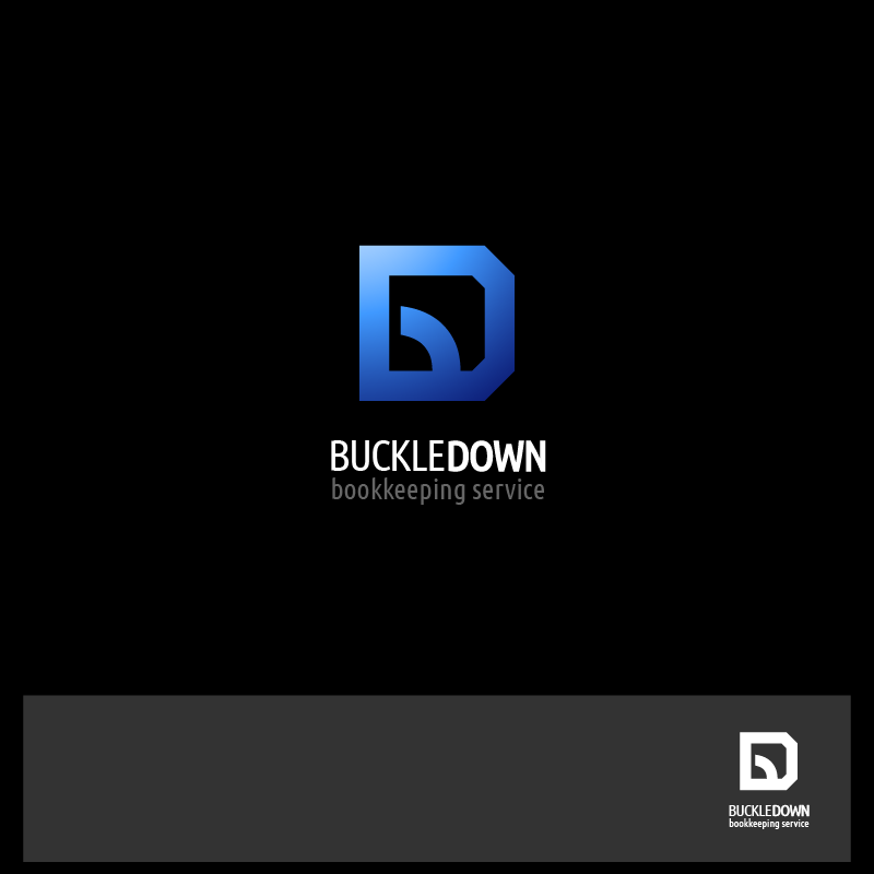 Logo Design by zesthar - Entry No. 78 in the Logo Design Contest Unique Logo Design Wanted for Buckle Down Bookkeeping Service.