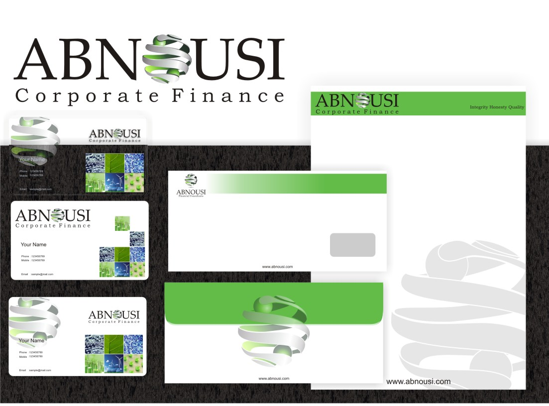 Logo Design by graphicleaf - Entry No. 167 in the Logo Design Contest Fun Logo Design for Abnousi Financial Consultants.