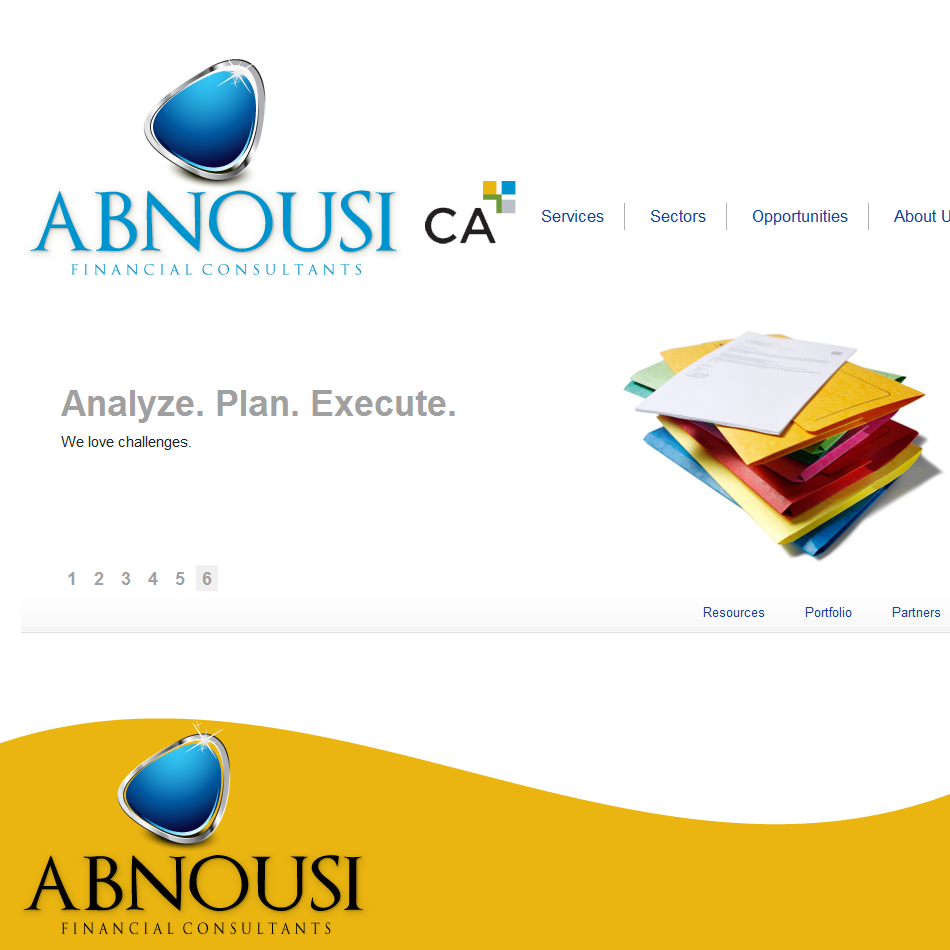 Logo Design by moonflower - Entry No. 196 in the Logo Design Contest Fun Logo Design for Abnousi Financial Consultants.